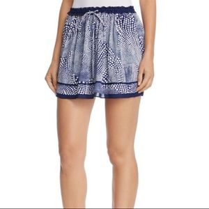 $345 NWT Ramy Brook Sofia Polka Dot Blue skirt